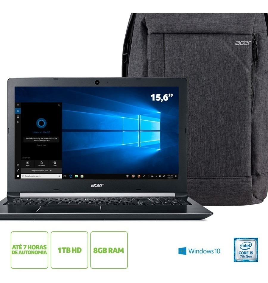 Kit:notebook Acer A515-51-51ux Intel® Core I5-7200u 8gb Ram