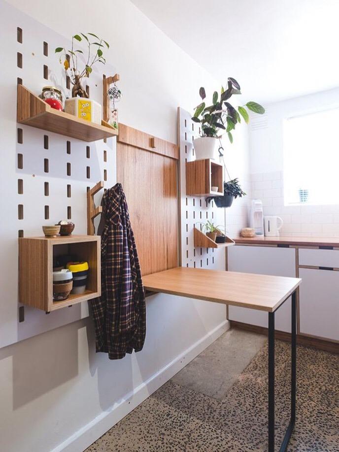 Kito Cocina Mesa Plegable Paneles Estantes Flotantes - $ 12.000,00 ...
