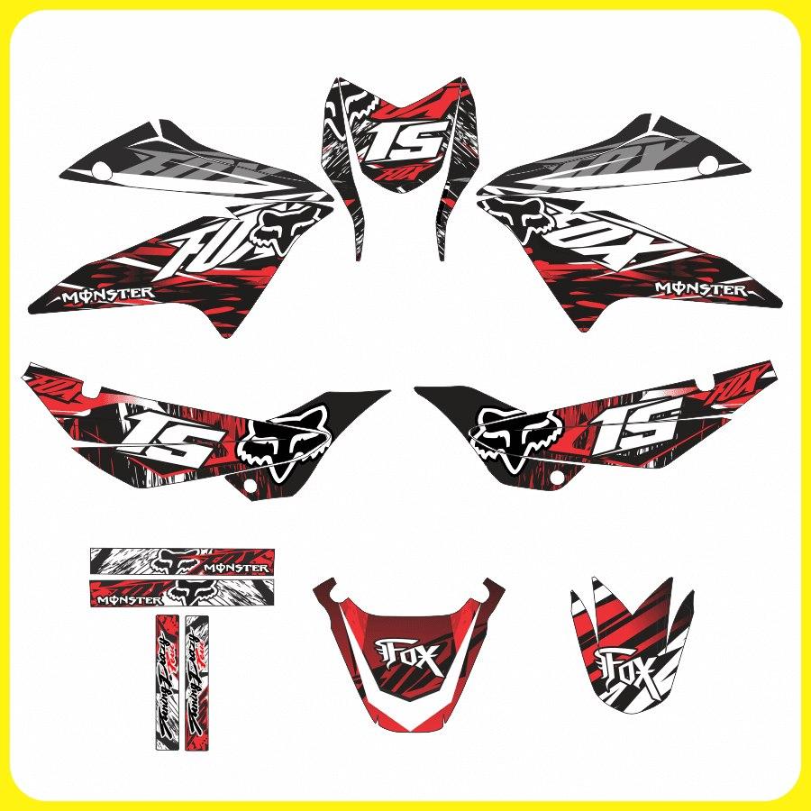 kits adhesivos gr u00e1ficos para motos honda xr 150  fox honda racing logo graphics honda racing logo svg
