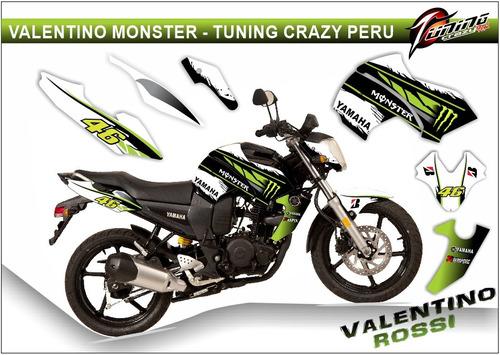 kits adhesivos gráficos para motos yamaha fz16, fox, monster