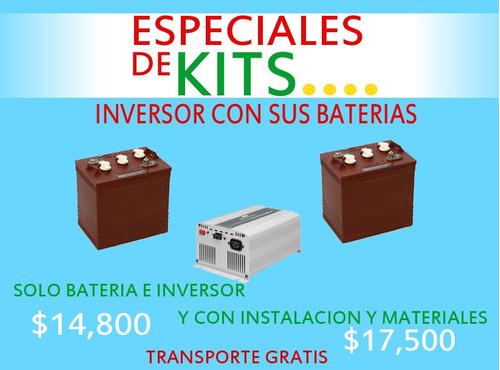 kits baterias y inversor todo incluido