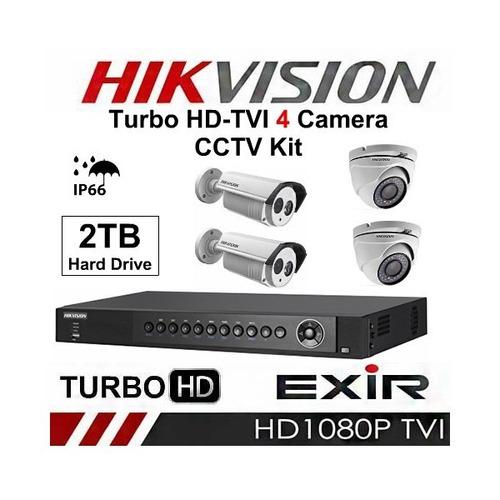kits camaras vigilancia hikvision 1080p fullhd video y audio