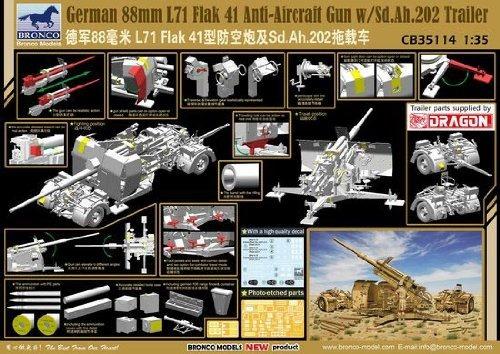 kits de avión y jet,bronco alemán 88mm l71 flak 41 antia..