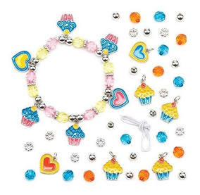 4ca7d5bd8e88 Kits De Pulsera De Cupcake Para Niños Para Hacer Y Llevar P