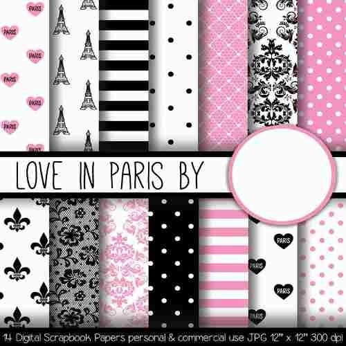 kits digitales papel scrapbook  fondo estampado