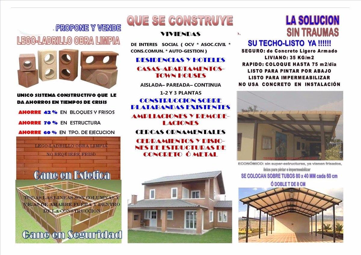 Kits Estructurales De Lego-ladrillo Obra Limpia. Promoción - Bs ...