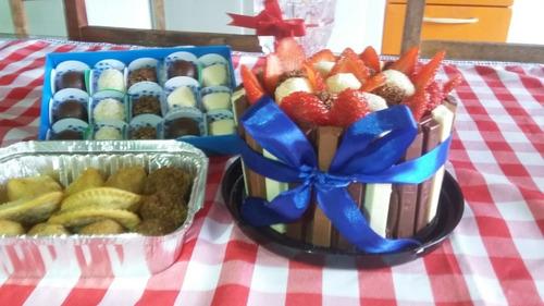 kits festas, bolos, salgados e doces. (maná, leite e mel).