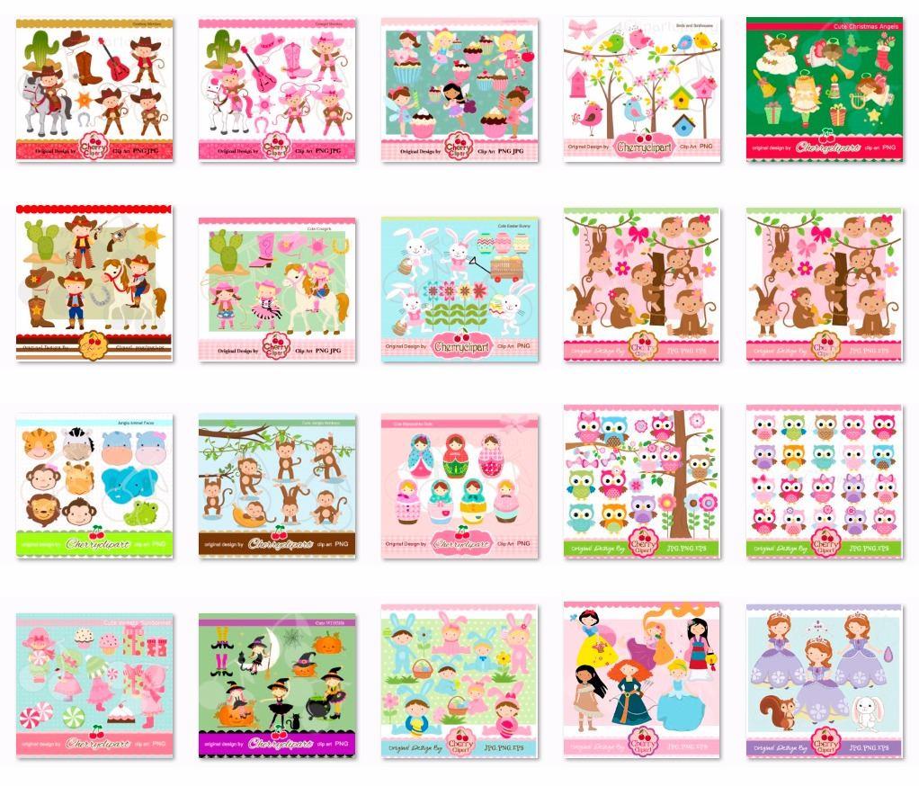 Kits Fondos Imprimibles - Personajes - Alta Calidad Cherry ...