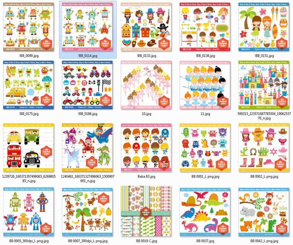 Kits Fondos Imprimibles - Personajes - Colección Babapuf - $ 129,99 ...