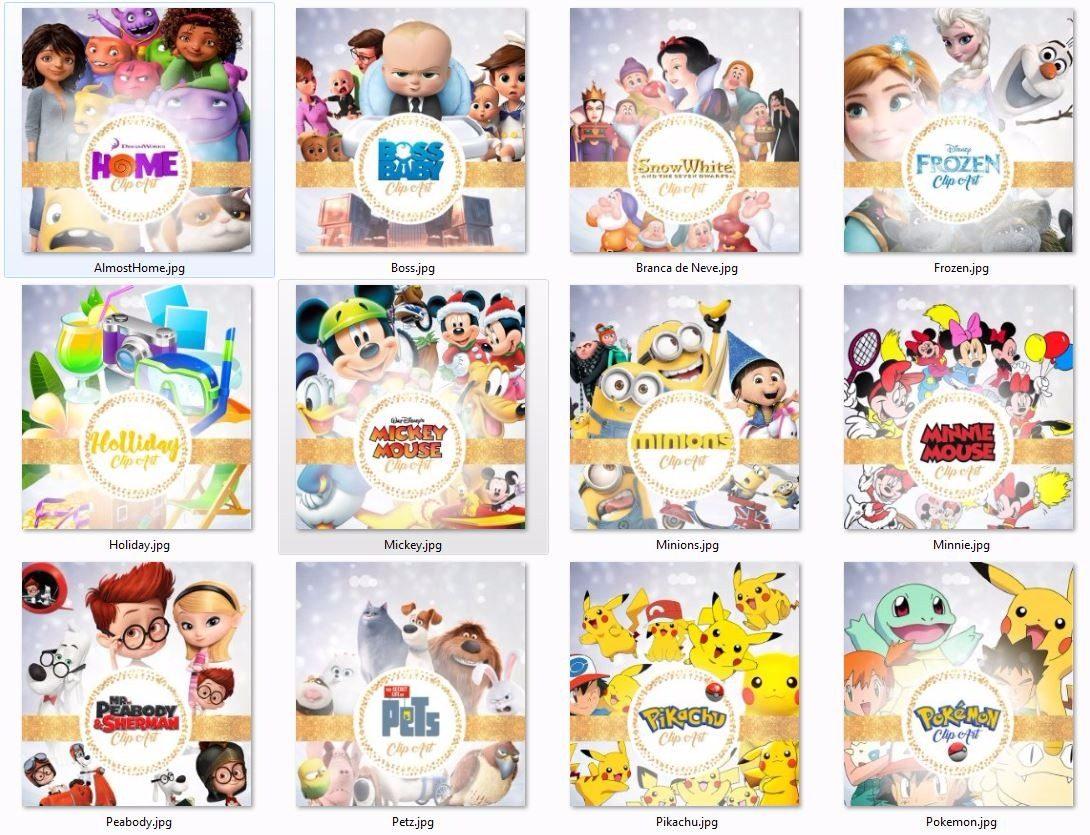 Kits Imprimibles Personajes - $ 110.00 en Mercado Libre