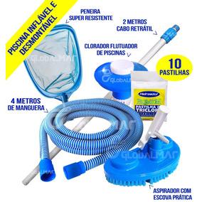 c6d9ec9a94139 Kit Completo Limpeza Piscina Intex no Mercado Livre Brasil