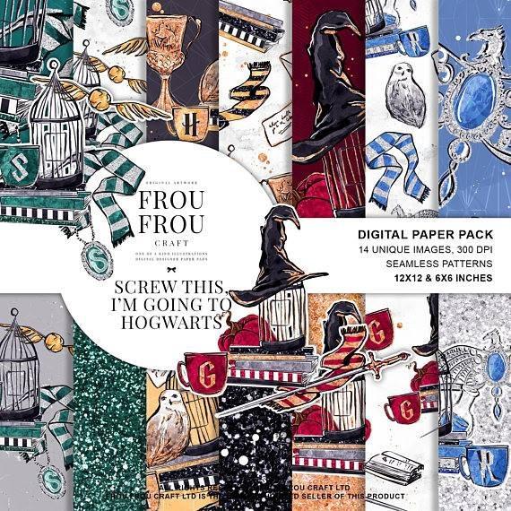 Kits Scrapbook Digital Harry Potter 3 Cliparts Premium