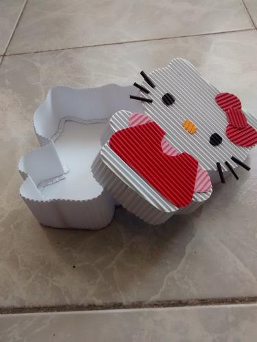 kitty caja de cartón corrugado original chica