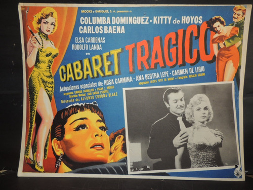 kitty de hotyos cabaret tragico cartel / lobby cards