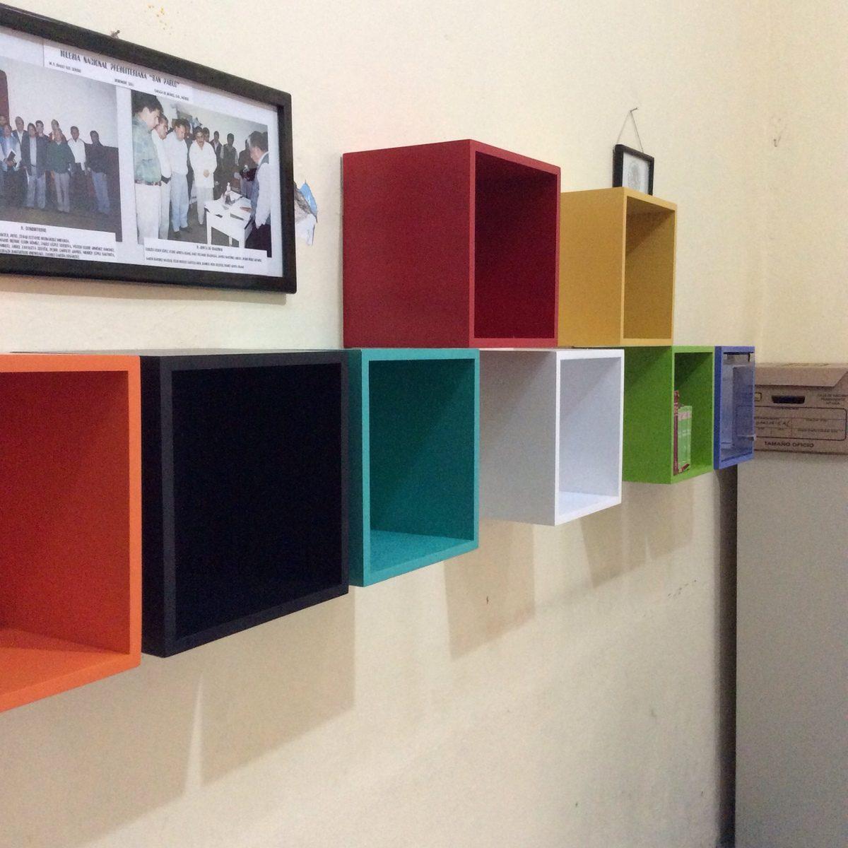 kjon achumecha cubo librero para colocar en pared