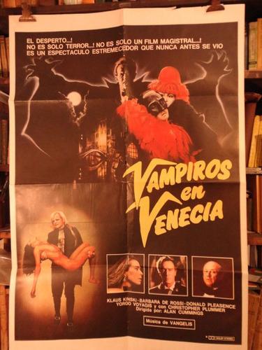 klaus kinski. vampiros en venecia. afiche cine original