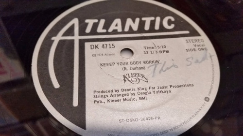 kleeer keeep your body workin' vinilo maxi primera edicion