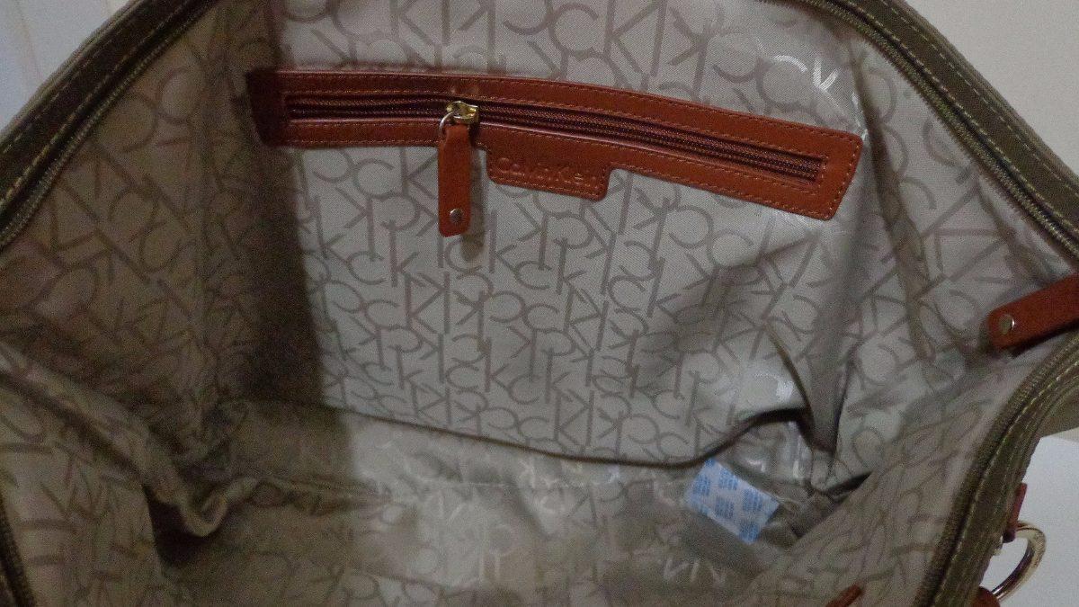 a78314bd166db Bolsa Calvin Klein Original Em Napa Com Detales Em Couro - R  950,00 ...
