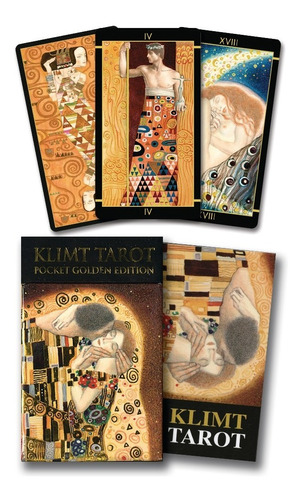 klimt tarot poket golden edition