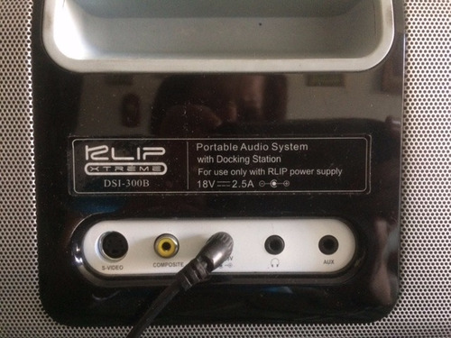 klip xtreme dsi-300b. portable audio system with docking sta