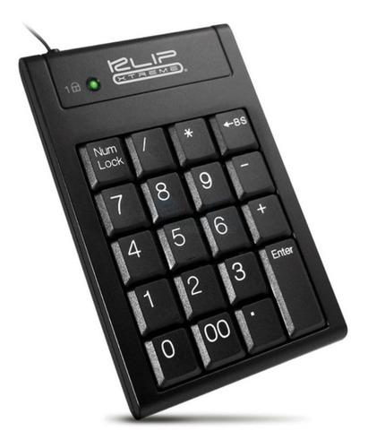 klip xtreme teclado numerico wired usb knp-100