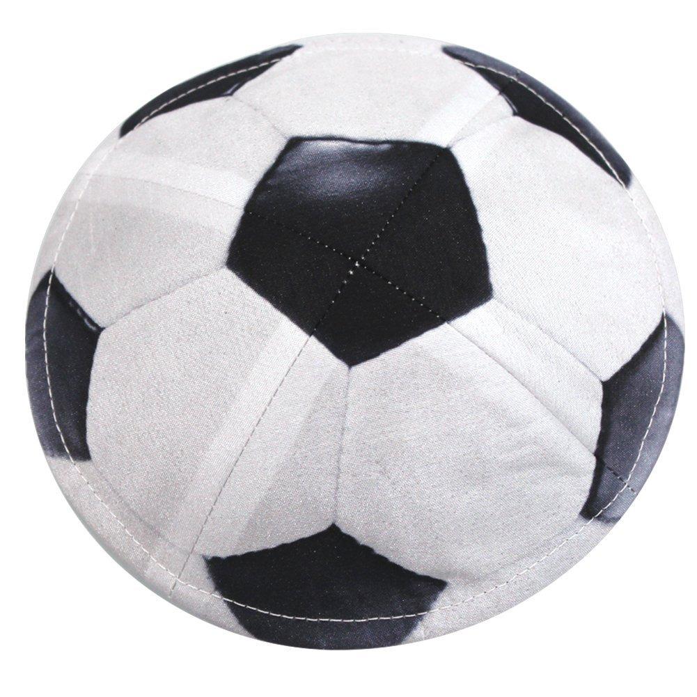 Klipped Kippahs Balón De Fútbol En Seda Cruda Negro 0d8fb2f99f8ae