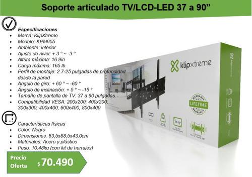 klipxtreme soporte lcd/led 37  a 90 tvs hasta 75kg. kpm-955