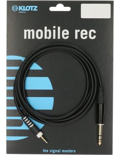 klotz mobile rec asmj0150 cable miniplug trs a plug de 1,5m