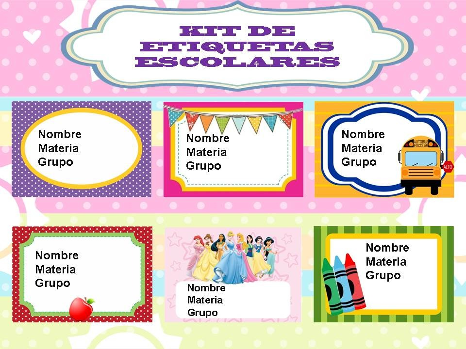 Klr 003 kit de etiquetas escolares muchos modelos for Modelos de carteleras escolares
