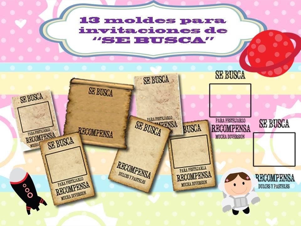 Klr 009 Kit De Moldes Para Invitación Tipo Se Busca