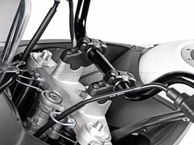 klr 94 -01  levantador y atrasador manubrio sw motech moto