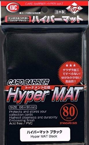 kmc hyper matte sleeves black cards sleeves deck protector