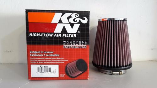k&n filtro aire alto flujo universal cromado rc-3250
