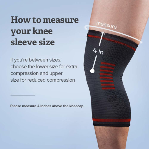 knee brace support compression sleeves for men and wom...
