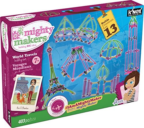 k'nex mighty makers - world travels building set - 403