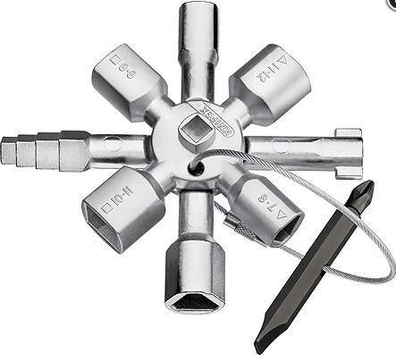 knipex llave para armario  twinkey®  mod:kni-001101