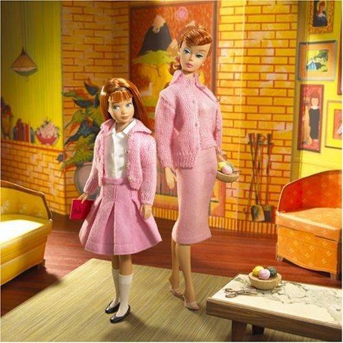 knitting pretty muñeca barbie y skipper giftset collectors e
