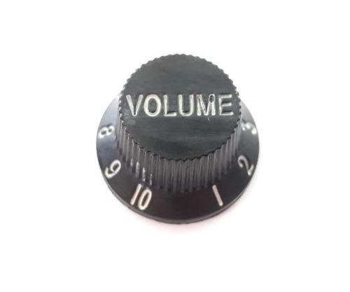 knob de plastico guitarra volume preto andaluz
