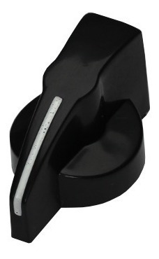 knob modelo chicken head preto com parafuso (kit 4 knobs)