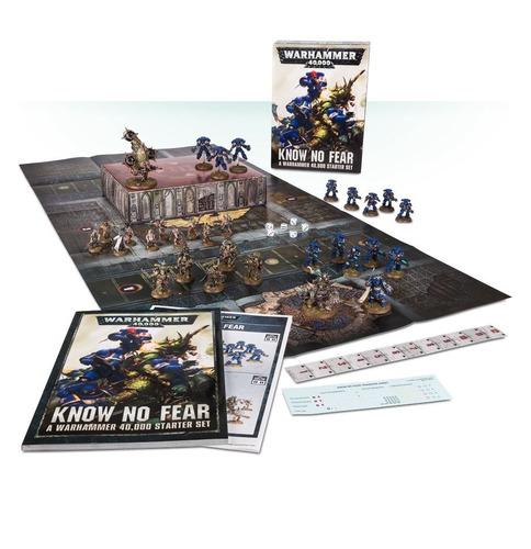 know no fear - warhammer 40000 starter set - conjunto basico