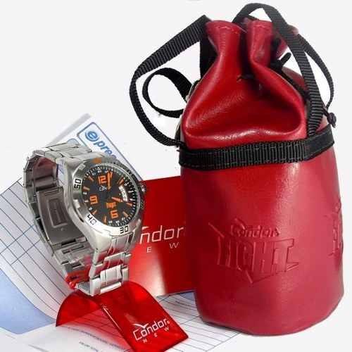 ko20027p relógio condor fight masculino aço serie jose aldo