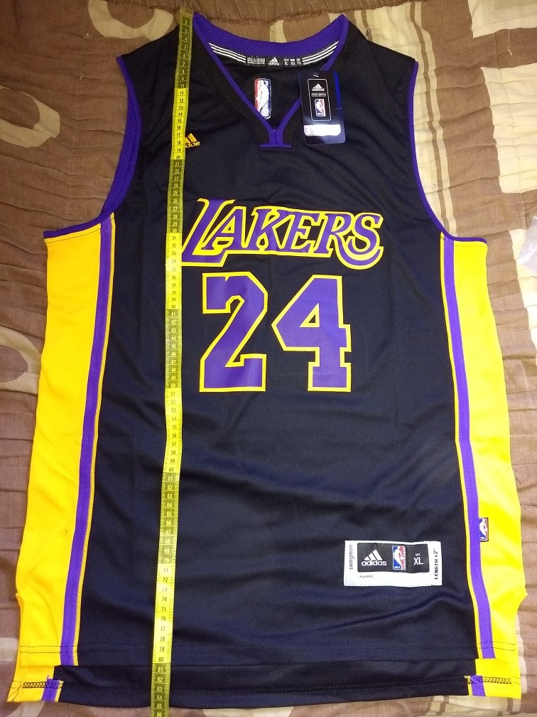 official photos c01a2 6bf1f Kobe Bryant 24 Lakers Jersey Negro Talla L