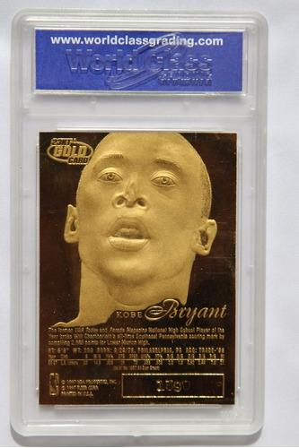 kobe bryant tarjeta fleer 23kt gold showcase legacy grado 10