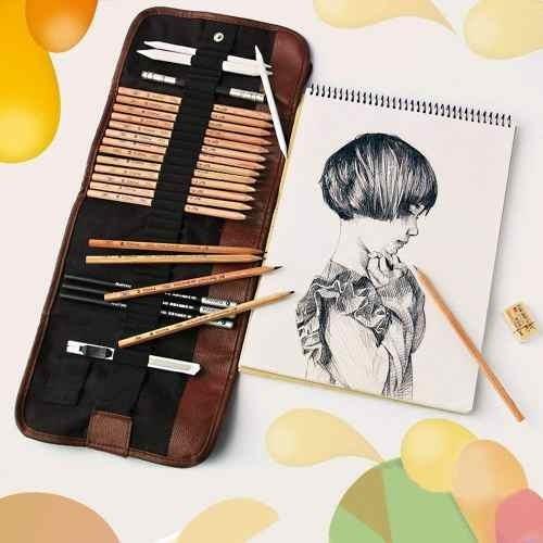 kobwa profesional para su dibujo kit, 18 piezas de arte set