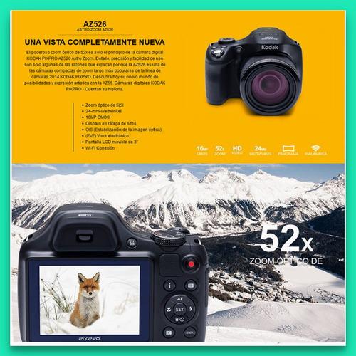 kodak az526 camara digital 16 mpx zoom 52xsemireflex wifi