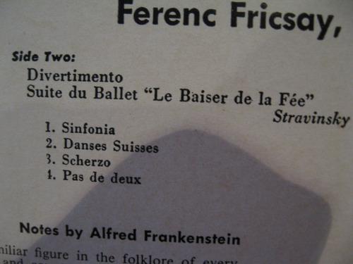 kodály - háry jános suite. stravinsky - divertimento (suite)