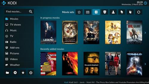 kodi para ver peliculas series y tv en vivo online