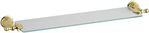 kohler k -16143- pb renacimiento vidrio estante , latón pul