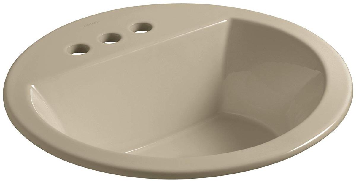 Kohler K-2714-4-33 Bryant Round Self-rimming Bathroom Sink W ... on ideas for a shop sink, small white sink, toto drop in sink, wall mount lavatory sink, self rim lavatory sinks, toilet sink,