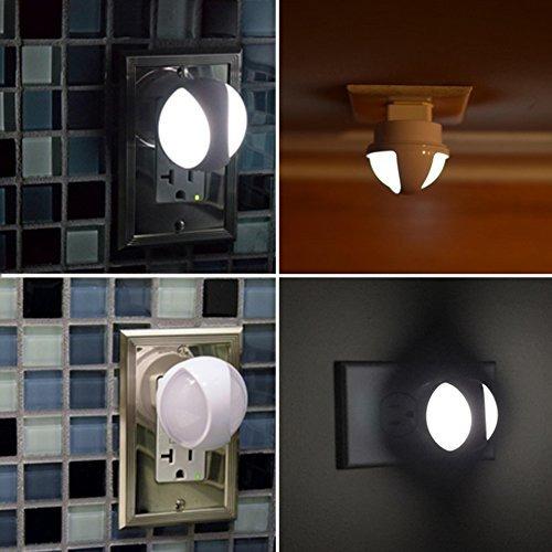 kohree plug-in automático de la lámpara led night light con